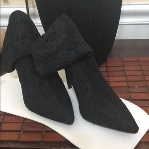 New never worn Black lace sock boots